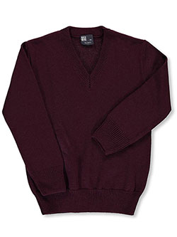 T.Q. Knits Big Boys' Control-Pil V-Neck Sweater (Sizes 8 - 20) - CookiesKids.com