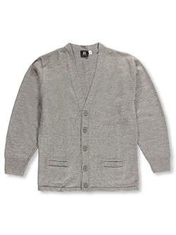 T.Q. Knits Big Boys' Adult Control-Pil 4-Button Cardigan (Adult Sizes S - XXL) - CookiesKids.com