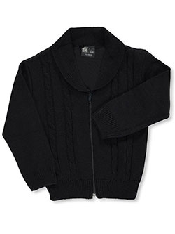 "T.Q. Knits Big Girls' ""Shawl Collar"" Control-Pil Cardigan (Sizes 7 – 16) - CookiesKids.com"