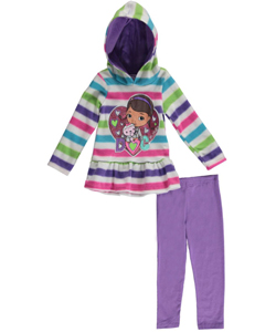"Doc McStuffins Little Girls' Toddler ""Glittery Heart Doc"" 2-Piece Outfit (Sizes 2T – 4T) - CookiesKids.com"