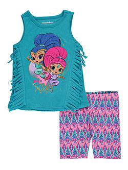 "Shimmer and Shine Little Girls' ""Make a Wish"" 2-Piece Outfit (Sizes 4 – 6X) - CookiesKids.com"