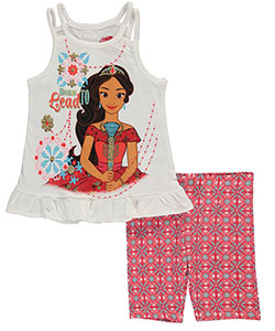 "Elena of Avalor Little Girls' ""Born to Lead"" 2-Piece Outfit (Sizes 4 – 6X) - CookiesKids.com"