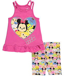 "Tsum Tsum Little Girls' ""Character Menagerie"" 2-Piece Outfit (Sizes 4 – 6X) - CookiesKids.com"