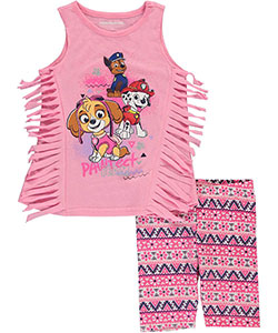 "Paw Patrol Little Girls' ""Pawtect Team"" 2-Piece Outfit (Sizes 4 – 6X) - CookiesKids.com"