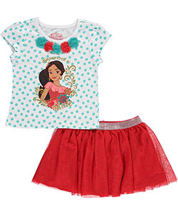"Disney Elena of Avalor Little Girls' Toddler ""Empowered"" 2-Piece Outfit (Sizes 2T – 4T) - CookiesKids.com"