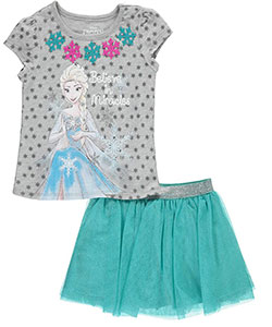 "Disney Frozen Little Girls' ""Believe in Miracles"" 2-Piece Outfit (Sizes 4 – 6X) - CookiesKids.com"