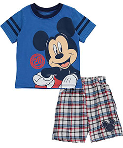 "Mickey Mouse Baby Boys' ""28 Stripe"" 2-Piece Outfit - CookiesKids.com"