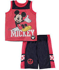 "Mickey Mouse Baby Boys' ""Big Smile"" 2-Piece Outfit - CookiesKids.com"