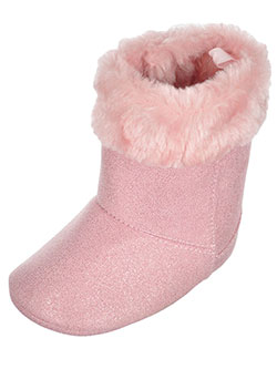 "Wee Kids Baby Girls' ""Sparkle Faux Shearling"" Boots - CookiesKids.com"