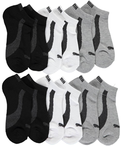 "Puma Boys' ""Logo Basics"" 6-Pack Low Cut Socks (Sizes 7 – 11) - CookiesKids.com"