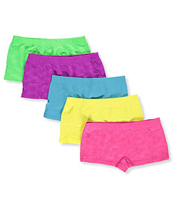"Limited Too Big Girls' ""Rainbows"" 5-Pack Boyshorts (Sizes 7 – 16) - CookiesKids.com"