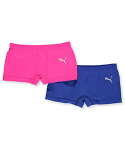 "Puma Big Girls' ""Sport Run"" 2-Pack Boyshorts (Sizes 8 – 18) - CookiesKids.com"