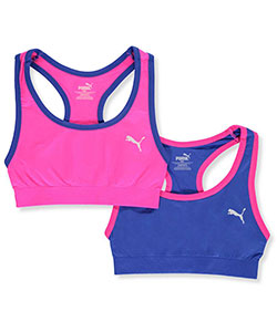 "Puma Big Girls' ""Full Court"" 2-Pack Sports Bras (Sizes 8 – 18) - CookiesKids.com"