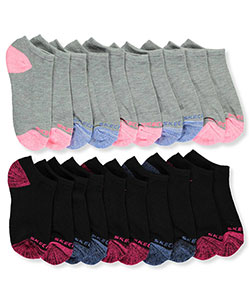 Skechers Girls' 10-Pack Low Cut Socks (Sizes 5 – 11) - CookiesKids.com
