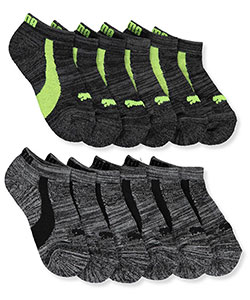 "Puma Boys' ""Logo Basics"" 6-Pack Low Cut Socks (Sizes 5 – 11) - CookiesKids.com"