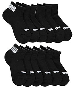 "Puma Boys' ""Cuffed Logo"" 6-Pack Quarter Crew Socks (Sizes 5 – 11) - CookiesKids.com"