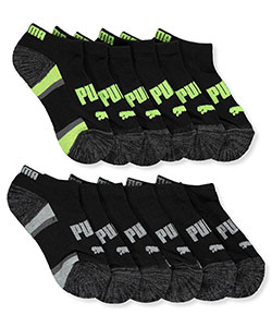 "Puma Boys' ""Striped Arch"" 6-Pack Low Cut Socks (Sizes 5 – 11) - CookiesKids.com"