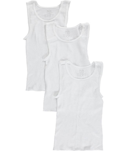 Fruit of the Loom Big Boys' 3-Pack A-Shirts (Sizes 8 – 20) - CookiesKids.com