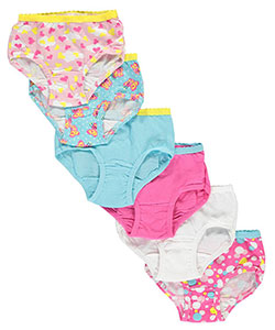 "Fruit of the Loom Little Girls' Toddler ""Cloud Hearts"" 6-Pack Briefs (Sizes 2T – 4T) - CookiesKids.com"