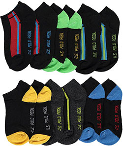 "U.S. Polo Assn. Baby Boys' ""Sport Look"" 6-Pack Low Cut Socks - CookiesKids.com"