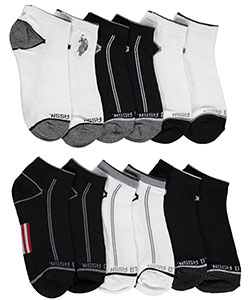 "U.S. Polo Assn. Big Boys' ""Logo Shade"" 6-Pack Low Cut Socks - CookiesKids.com"