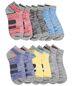 "U.S. Polo Assn. Boys' ""Heathered Stripe"" 6-Pack Low Cut Socks - CookiesKids.com"