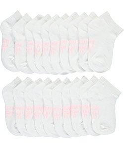 "U.S. Polo Assn. Baby Girls' ""Solid"" 10-Pack Low Cut Socks - CookiesKids.com"