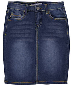 "V Gold Big Girls' ""Winnifred"" Denim Skirt (Sizes 7 – 16) - CookiesKids.com"