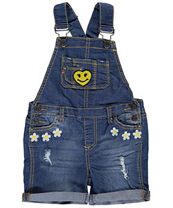 "Vigoss Little Girls' Toddler ""Daisy Patch"" Shortalls (Sizes 2T – 4T) - CookiesKids.com"