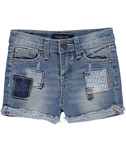 "Vigoss Baby Girls' ""Denim Patched"" Short Shorts - CookiesKids.com"