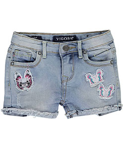 "Vigoss Baby Girls' ""Butterfly Patch"" Short Shorts - CookiesKids.com"