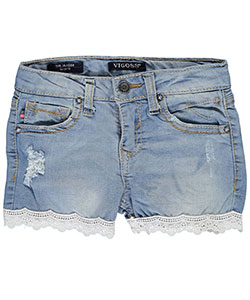 "Vigoss Baby Girls' ""Lace Line"" Short Shorts - CookiesKids.com"