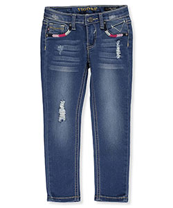 "Vigoss Little Girls' Toddler ""Embroidered Angles"" Skinny Jeans (Sizes 2T – 4T) - CookiesKids.com"