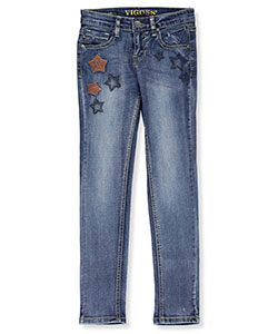 "Vigoss Big Girls' ""Hippy Stars"" Skinny Jeans (Sizes 7 – 16) - CookiesKids.com"