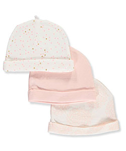 Sterling Baby Baby Girls' 3-Pack Caps - CookiesKids.com