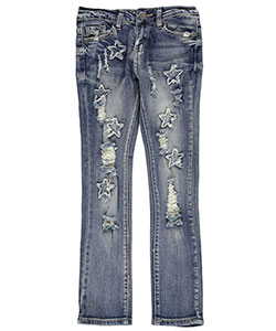 "#VIP Jeans Big Girls' ""Star Fray"" Jeans (Sizes 7 – 16) - CookiesKids.com"