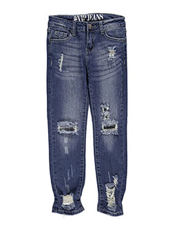 "#VIP Jeans Big Girls' ""Faded Fray"" Jeans (Sizes 7 – 16) - CookiesKids.com"