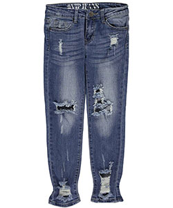 "#VIP Jeans Big Girls' ""Square Trend"" Jeans (Sizes 7 – 16) - CookiesKids.com"