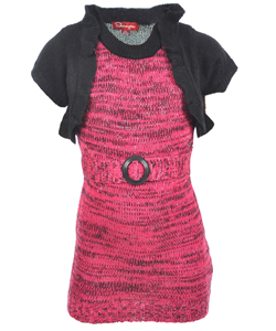 "Shampoo Little Girls' Toddler ""Adrienne"" Sweater Dress (Sizes 2T – 4T) - CookiesKids.com"