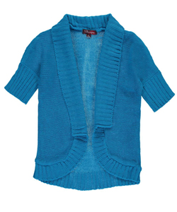 "Shampoo Little Girls' Toddler ""Open Trim"" Cardigan (Sizes 2T – 4T) - CookiesKids.com"