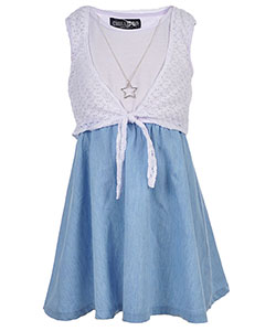 "Chillipop Big Girls' ""Lace Layer"" Dress with Necklace (Sizes 7 – 16) - CookiesKids.com"