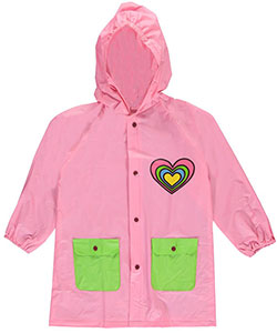 "Lilly New York Big Girls' ""Party Heart"" Rain Jacket (Sizes 7 – 16) - CookiesKids.com"