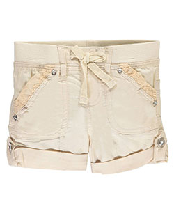 "Chillipop Little Girls' ""First Class"" Short Shorts (Sizes 4 – 6X) - CookiesKids.com"
