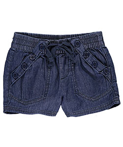 "Chillipop Little Girls' ""Buttoned Up"" Short Shorts (Sizes 4 – 6X) - CookiesKids.com"