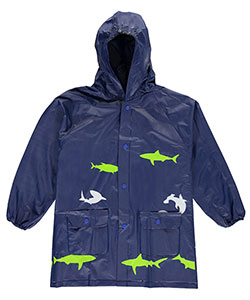 "Lilly New York Big Boys' ""Shark Shower"" Rain Jacket (Sizes 8 – 20) - CookiesKids.com"