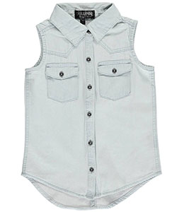 "Chillipop Little Girls' ""Western Seamed"" Button-Down Shirt (Sizes 4 – 6X) - CookiesKids.com"