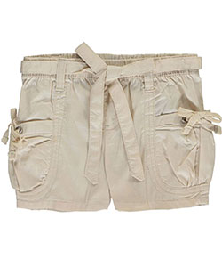 "Chillipop Little Girls' ""Explorer"" Belted Short Shorts (Sizes 4 – 6X) - CookiesKids.com"