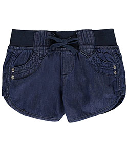 "Chillipop Little Girls' ""Dolphin Scoop"" Short Shorts (Sizes 4 – 6X) - CookiesKids.com"
