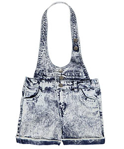 "Chillipop Little Girls' Toddler ""Denim Halter"" Shortalls (Sizes 2T – 4T) - CookiesKids.com"