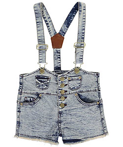 "Chillipop Little Girls' ""Mini Patched"" Shortalls (Sizes 4 – 6X) - CookiesKids.com"